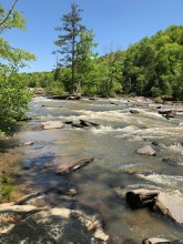Rapids just below ruins.