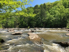 View downstream of rapids.