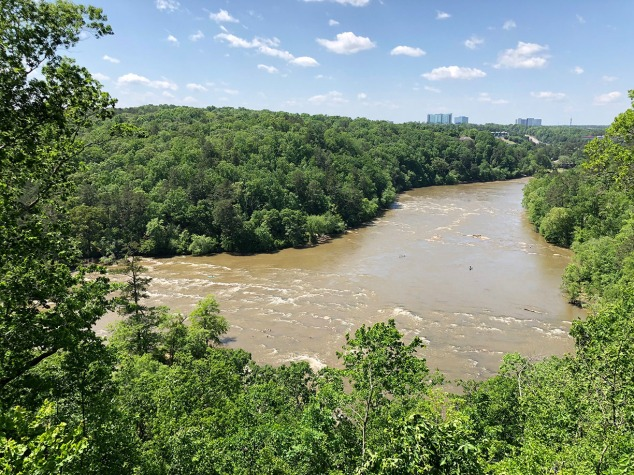 full river view from overlook