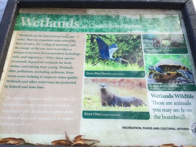Wetlands sign.