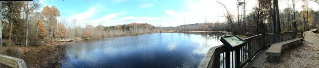 Panorama of the lakes.