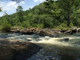 Rapids at the end of the trail.